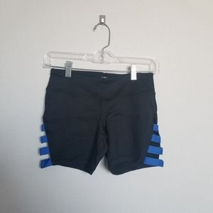 Reflex Black Bike Shorts Blue Lattice S